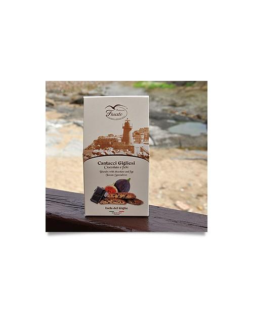 Cantucci Gigliesi al Cioccolato e Fichi 180 G. Confezione Regalo