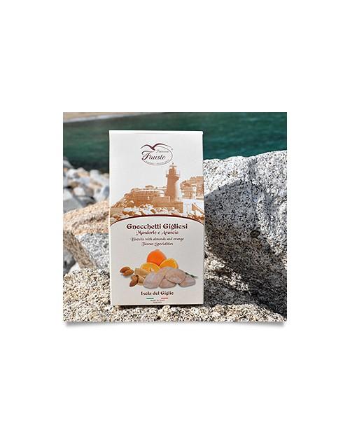 Gnocchetti Gigliani alle Mandorle e Arancia 160 G. Confezione Regalo
