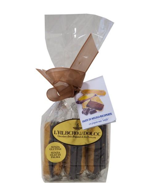 Paste di Meliga Ricoperta al Cioccolato Fondente Extra