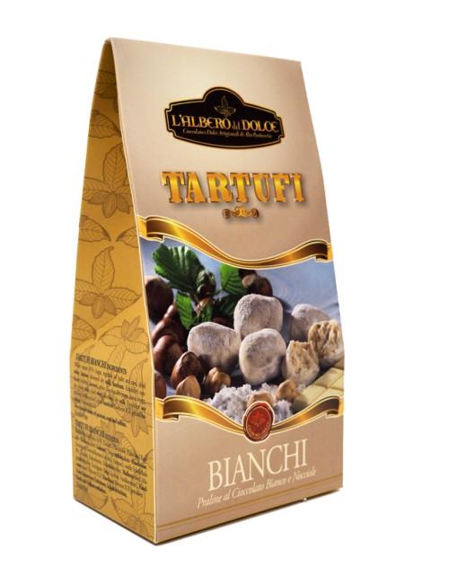 Tartufo Bianco Con Nocciole E Cioccolato Bianco