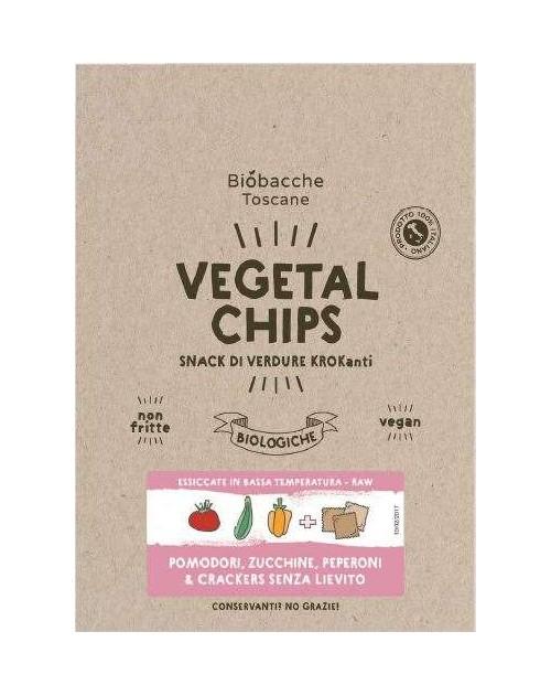 Vegetal Chips Pomodori, Zucchine e Peperoni + Crackers
