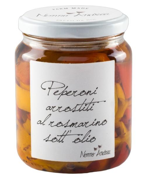 Peperoni Arrostiti Al Rosmarino Sott'olio